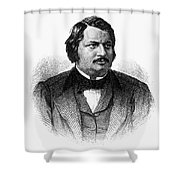 HONORE de BALZAC (1799-1850) Shower Curtain by Granger
