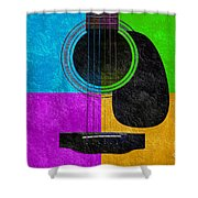 Hour Glass Guitar 4 Colors 3 Shower Curtain by Andee Design