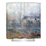 House at Falaise Shower Curtain by Claude Monet