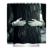 hug Shower Curtain by Joana Kruse