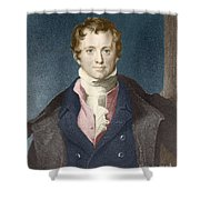 Humphry Davy, English Chemist Shower Curtain by Science Source