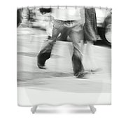 Hurry Up Shower Curtain by Aimelle