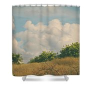 I Exhale And Tell Myself To Smile Shower Curtain by Laurie Search