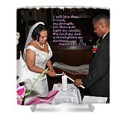 I Will Love Thee Shower Curtain by Terry Wallace