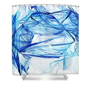 Ice 002 Shower Curtain by Barry Jones
