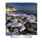 Ice Pieces, Cape Turner, Prince Edward Shower Curtain by John Sylvester