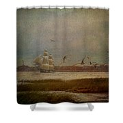 In Another Lifetime Shower Curtain by Lianne Schneider