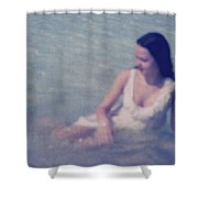 In Blue. Impressionism Shower Curtain by Jenny Rainbow