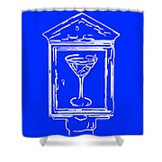 In Case Of Emergency - Drink Martini - Blue Shower Curtain by Wingsdomain Art and Photography