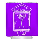 In Case Of Emergency - Drink Martini - Purple Shower Curtain by Wingsdomain Art and Photography