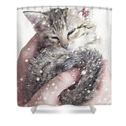 In Safe Hands II Shower Curtain by Amy Tyler
