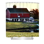 In The Barn Yard Shower Curtain by Bill Cannon