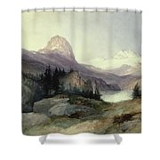In the Bighorn Mountains Shower Curtain by Thomas Moran