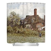 In The Spring Shower Curtain by Helen Allingham