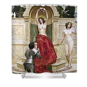 In The Venusburg Shower Curtain by John Collier