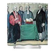 Inauguration Of George Washington, 1789 Shower Curtain by Photo Researchers