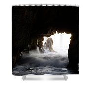 Incoming Tide Big Sur Shower Curtain by Bob Christopher