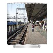 Indian Railway Station Shower Curtain by Sumit Mehndiratta