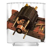 Induction Motor Shower Curtain by Photo Researchers