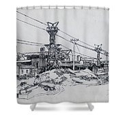Industrial Site Shower Curtain by Ylli Haruni