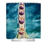 infrared Ferris wheel Shower Curtain by Stelios Kleanthous