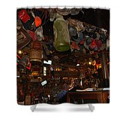 Inside The Bar In Luckenbach Tx Shower Curtain by Susanne Van Hulst