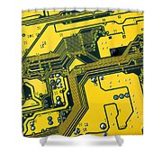 Integrated Circuit Shower Curtain by Carlos Caetano