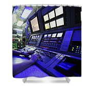 Internal Communications Electrician Shower Curtain by Stocktrek Images