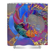 Into The Inner World Shower Curtain by Deborah Benoit