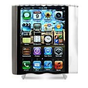 Iphone Shower Curtain by Photo Researchers
