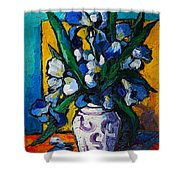 Irises Shower Curtain by Mona Edulesco