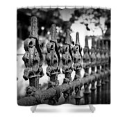 Iron Fence 2 Shower Curtain by Perry Webster