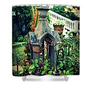 Iron Fence Detail Shower Curtain by Perry Webster
