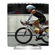 Ironman 2012 Flying By Shower Curtain by Bob Christopher