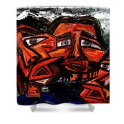 Is 3 Really A Crowd Shower Curtain by Karen Elzinga