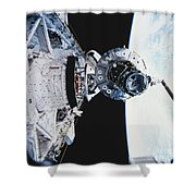 Iss Module Unity Shower Curtain by Science Source