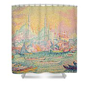 Istanbul Shower Curtain by Paul Signac