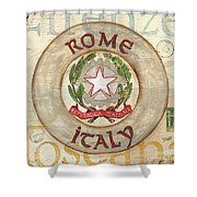 Italian Coat of Arms Shower Curtain by Debbie DeWitt