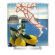Italy Shower Curtain by Georgia Fowler