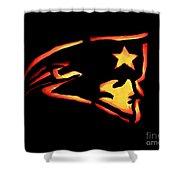 Jacko Lantern Patriots Shower Curtain by Lloyd Alexander