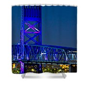 Jacksonville Skyline Shower Curtain by Debra and Dave Vanderlaan