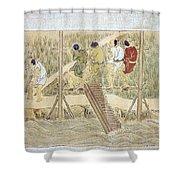 Japan: Irrigation, C1575 Shower Curtain by Granger