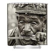 Jaw Harp Shower Curtain by Skip Nall