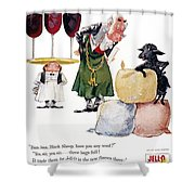 Jell-o Advertisement, 1957 Shower Curtain by Granger