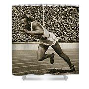 Jesse Owens Shower Curtain by American School
