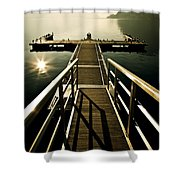 jetty Shower Curtain by Joana Kruse