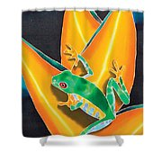 Joe's Treefrog Shower Curtain by Daniel Jean-Baptiste