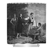 John Andre Shower Curtain by Photo Researchers