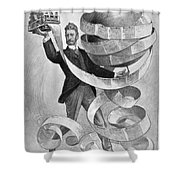 Joseph Pulitzer Shower Curtain by Granger