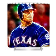 Josh Hamilton Magical Shower Curtain by Paul Van Scott